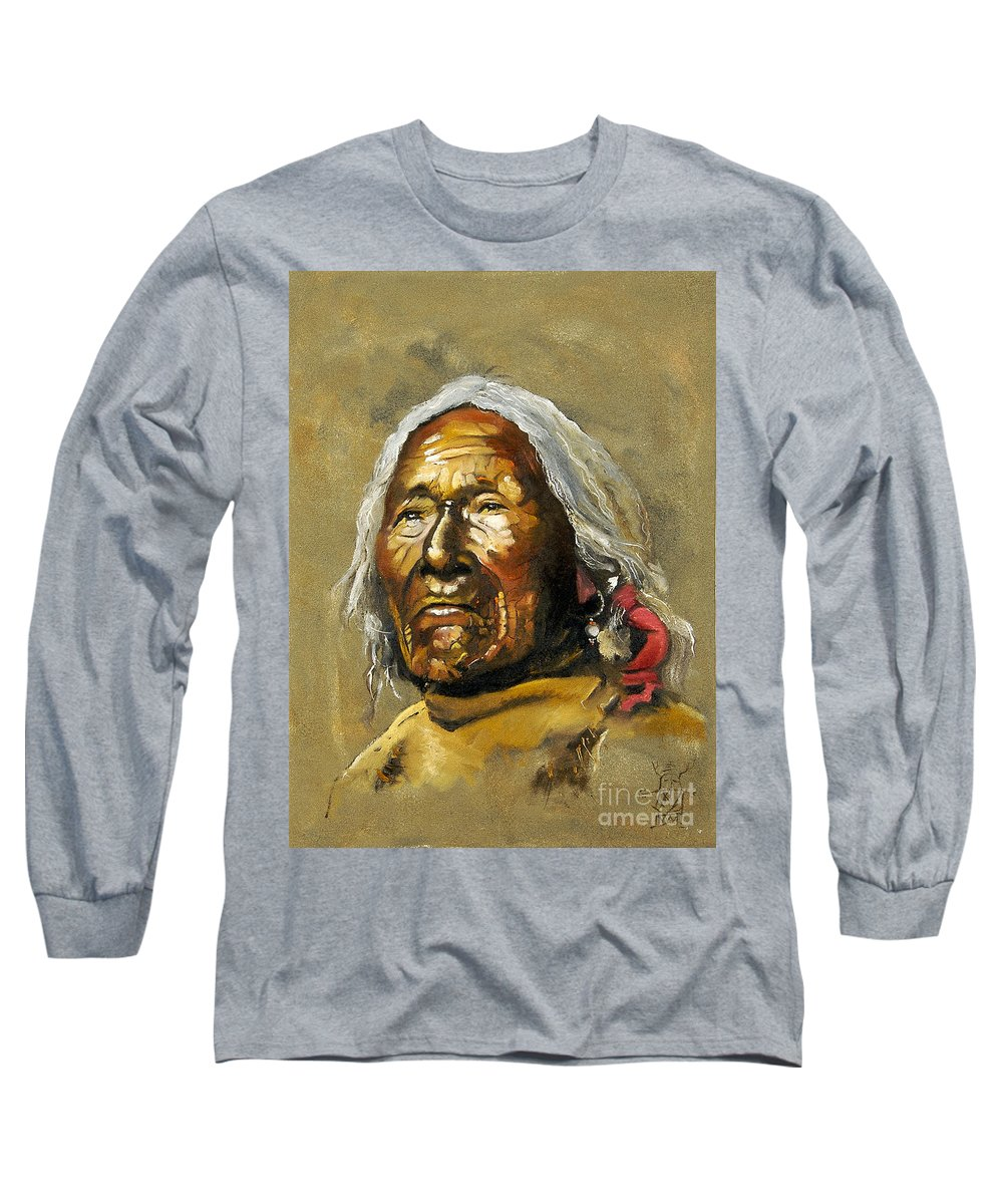 Southwest Art Long Sleeve T-Shirt featuring the painting Painted Sands Of Time by J W Baker