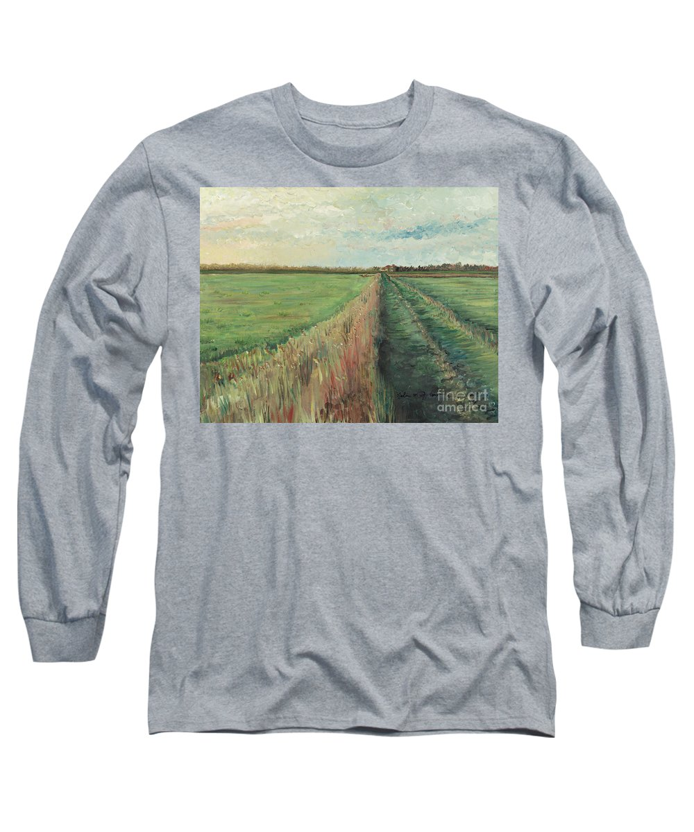 Provence Long Sleeve T-Shirt featuring the painting Provence Villa by Nadine Rippelmeyer