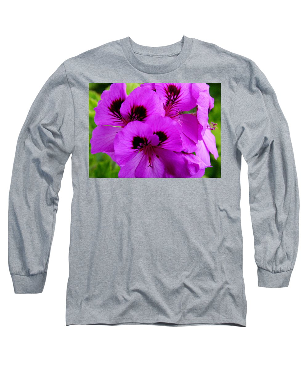 Purple Flowers Long Sleeve T-Shirt featuring the photograph Purple Flowers by Anthony Jones