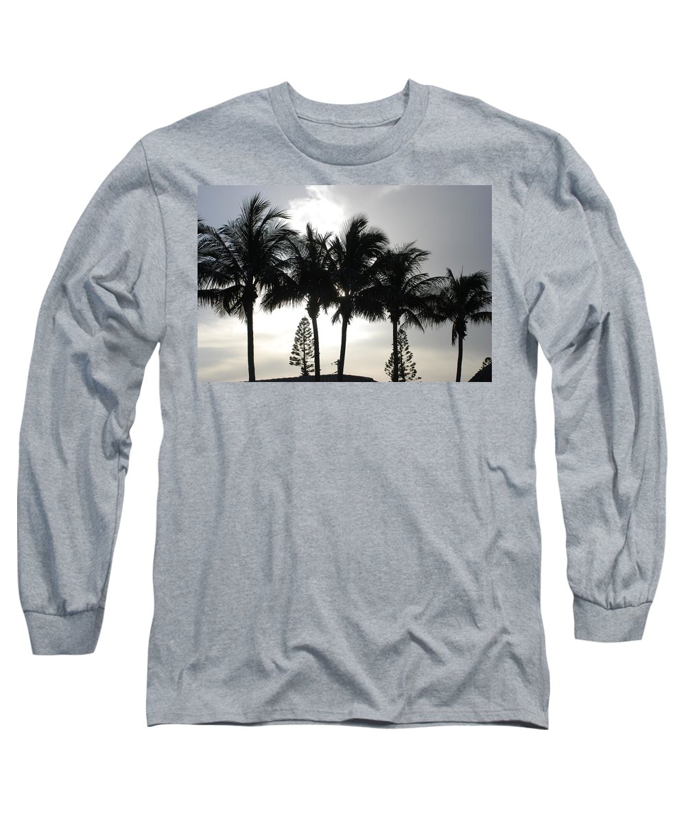 Sky Long Sleeve T-Shirt featuring the photograph Sunset Thru The Trees by Rob Hans