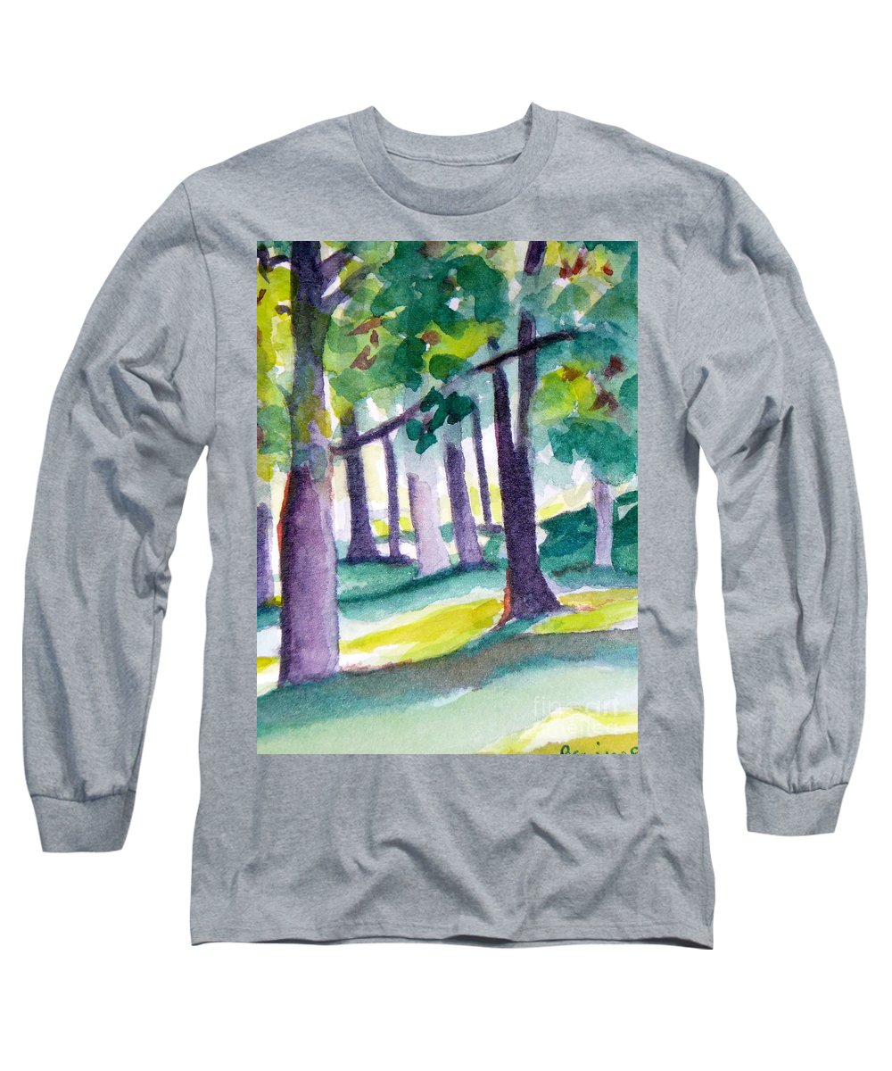 Nature Long Sleeve T-Shirt featuring the painting The Perfect Day by Jan Bennicoff