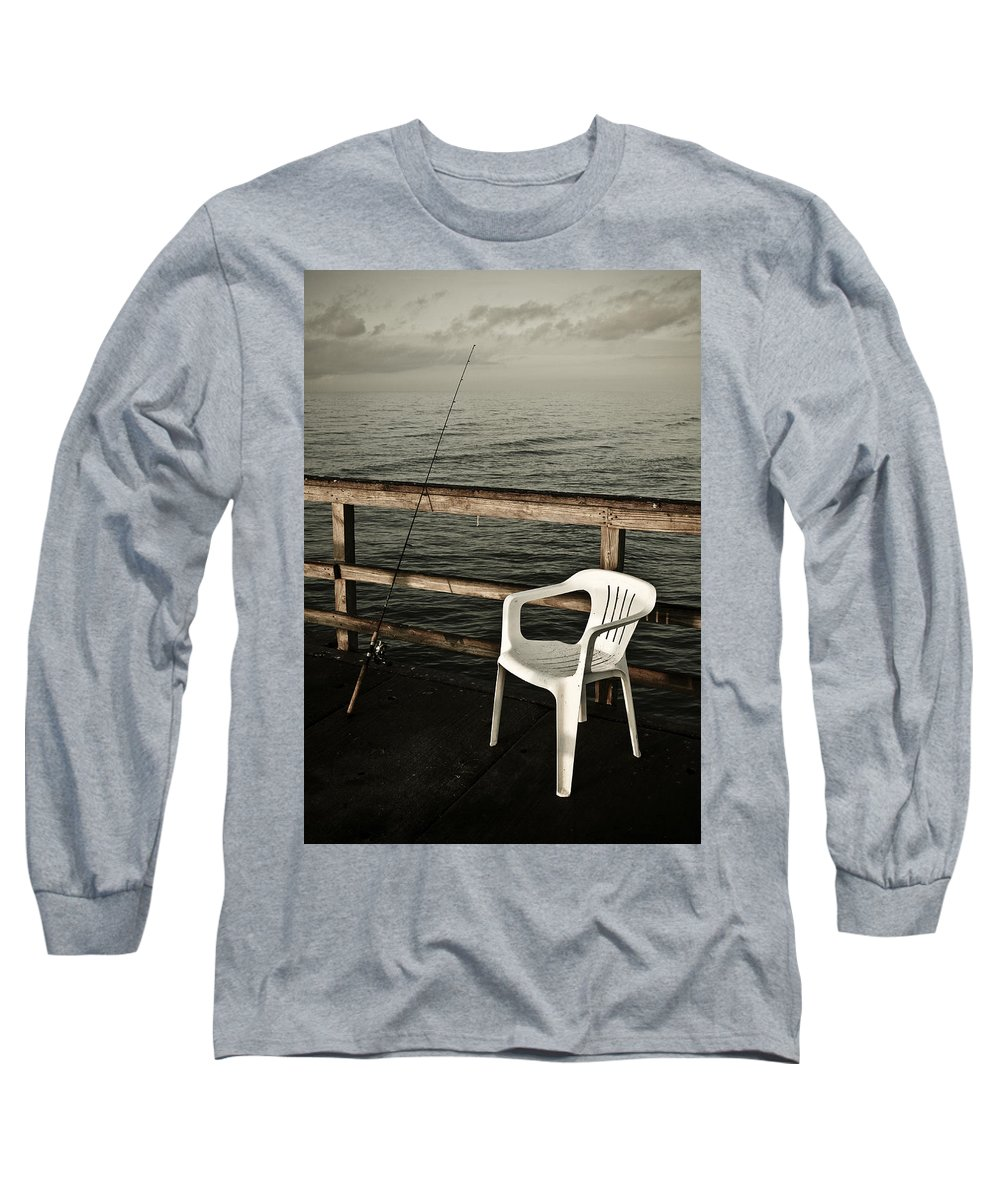 Fish Long Sleeve T-Shirt featuring the photograph Waiting by Marilyn Hunt