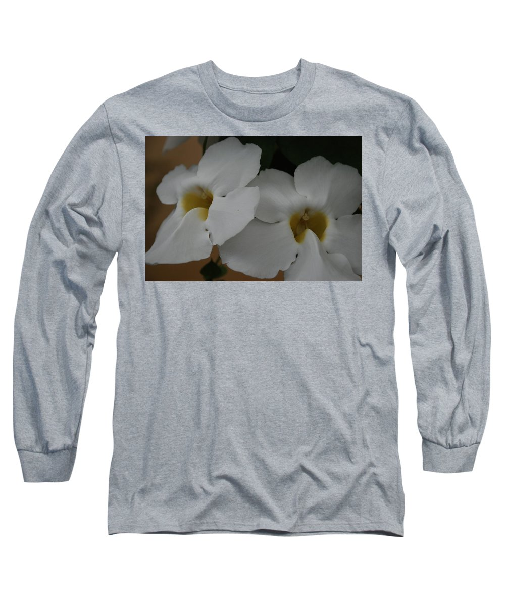 Macro Long Sleeve T-Shirt featuring the photograph White Orchids by Rob Hans