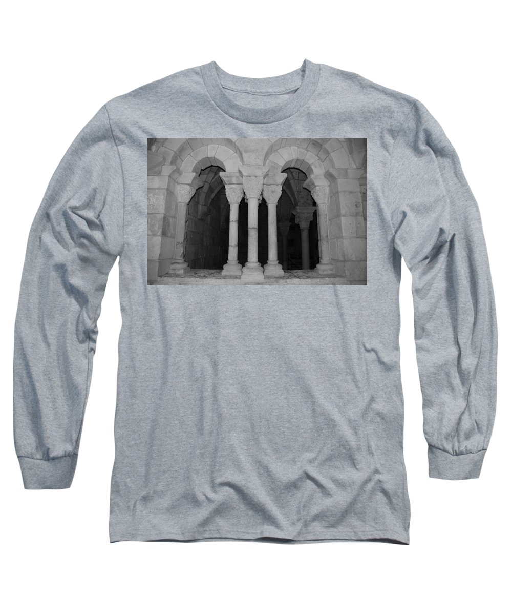 Black And White Long Sleeve T-Shirt featuring the photograph Miami Monastery by Rob Hans