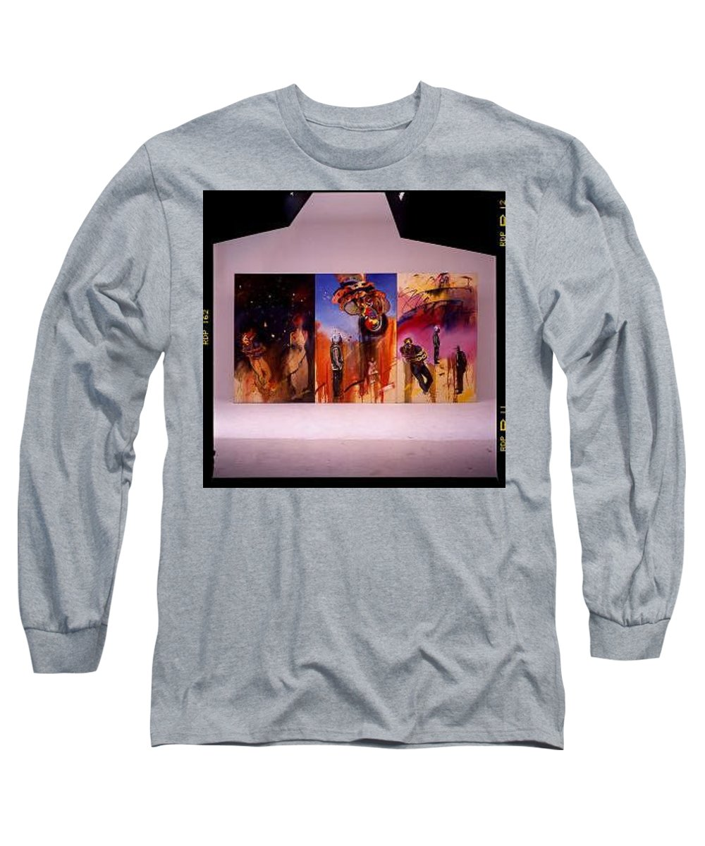Canvas Long Sleeve T-Shirt featuring the painting Love Hurts by Charles Stuart