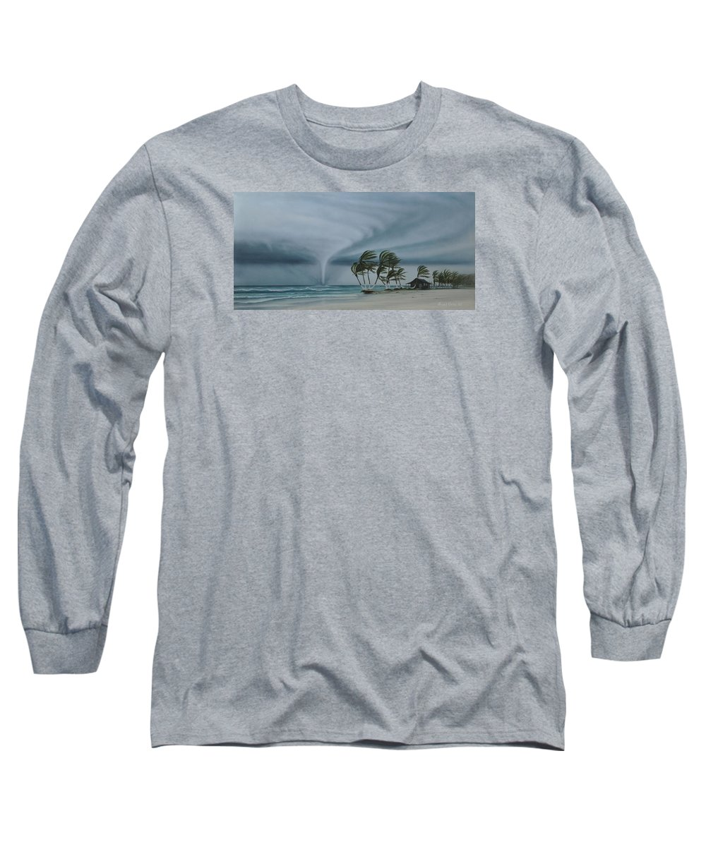 Long Sleeve T-Shirt featuring the painting Mahahual by Angel Ortiz