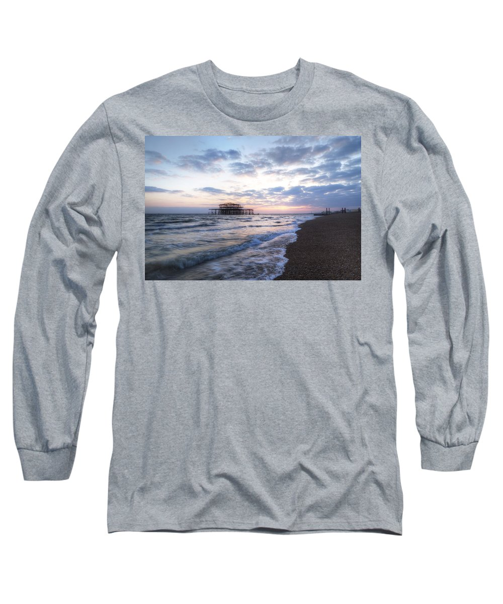 West Pier Long Sleeve T-Shirt featuring the photograph Brighton by Joana Kruse