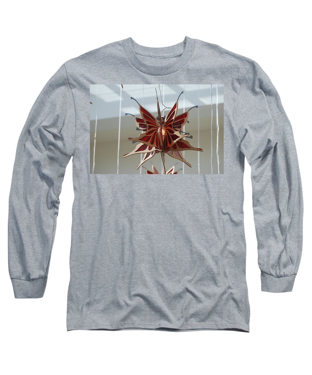 Architecture Long Sleeve T-Shirt featuring the photograph Hanging Butterfly by Rob Hans