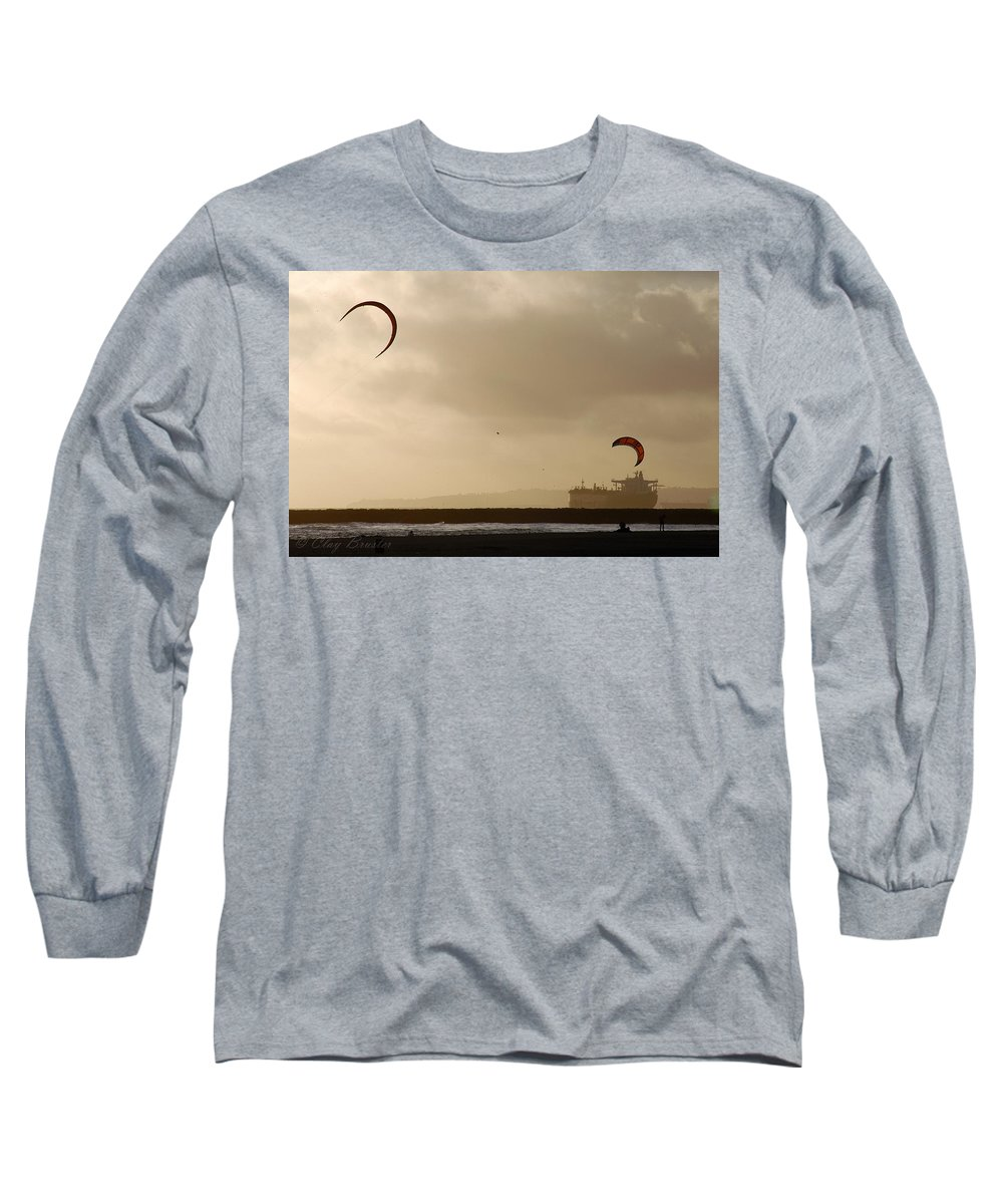 Clay Long Sleeve T-Shirt featuring the photograph A Day At The Beach by Clayton Bruster