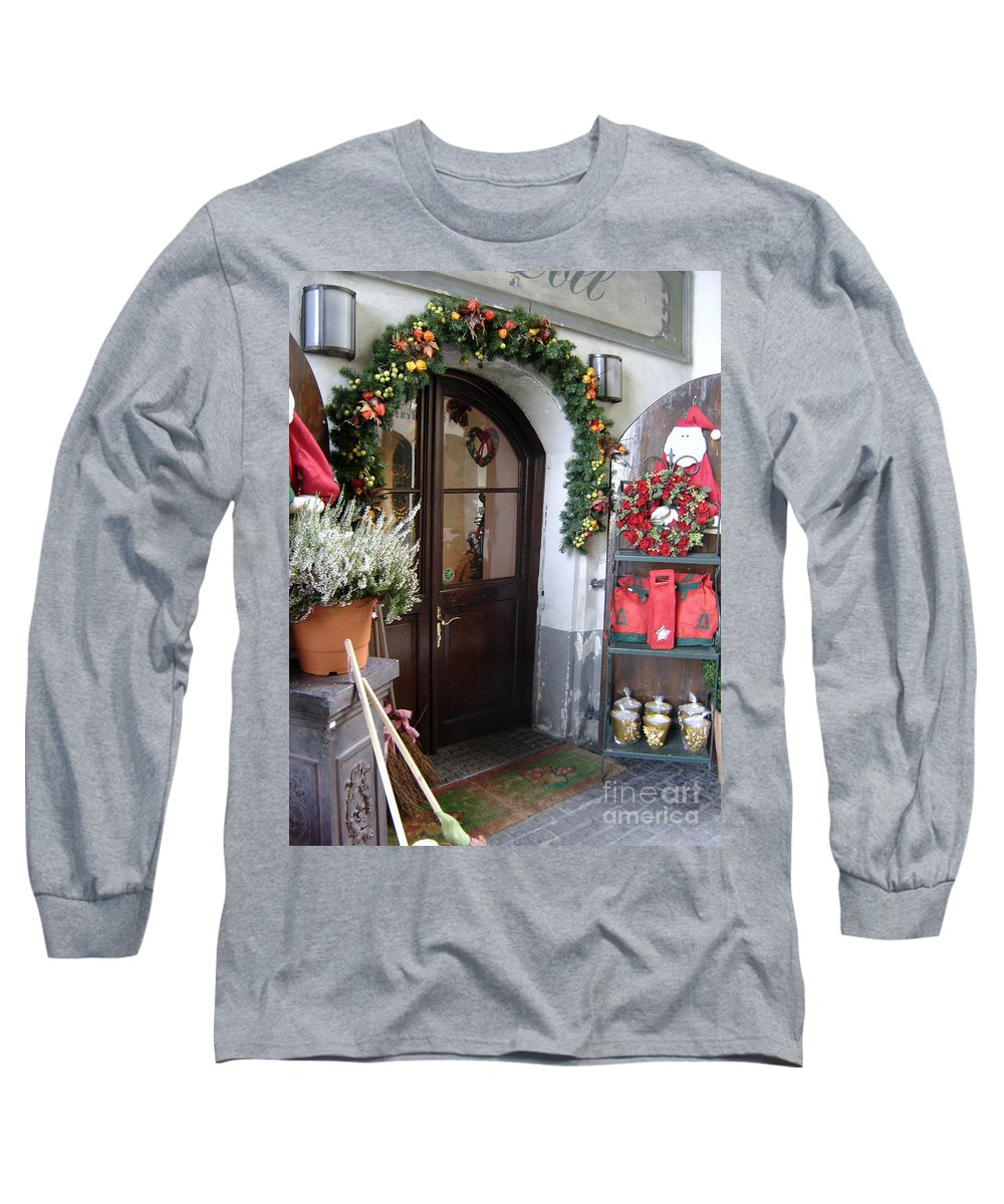 Santa Long Sleeve T-Shirt featuring the photograph A Salzburg Christmas by Mary Rogers