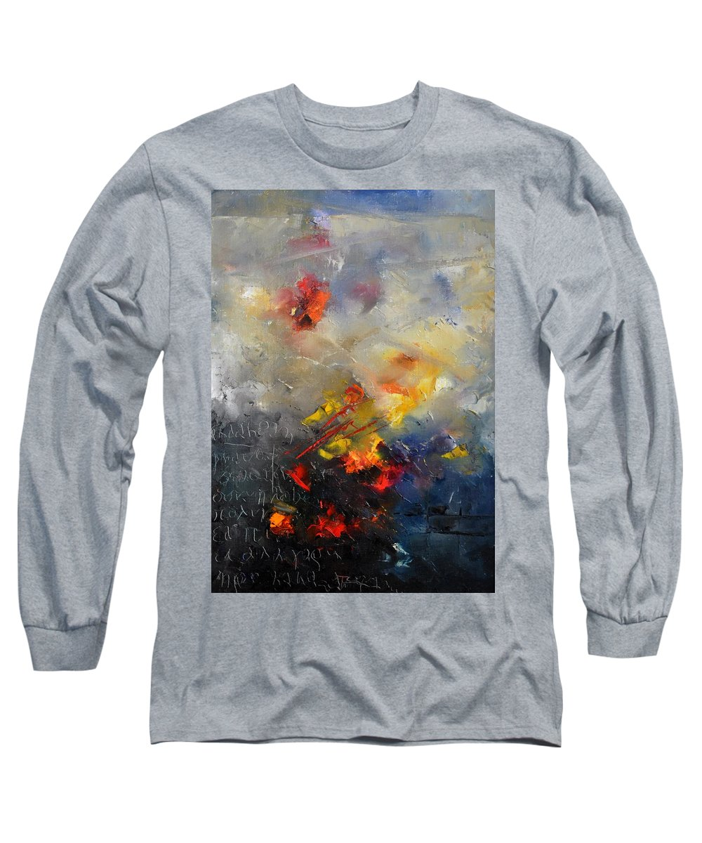 Abstract Long Sleeve T-Shirt featuring the painting Abstract 0805 by Pol Ledent