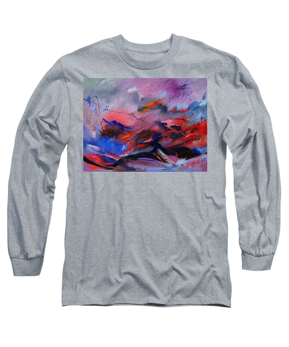 Abstract Long Sleeve T-Shirt featuring the painting Abstract 971260 by Pol Ledent