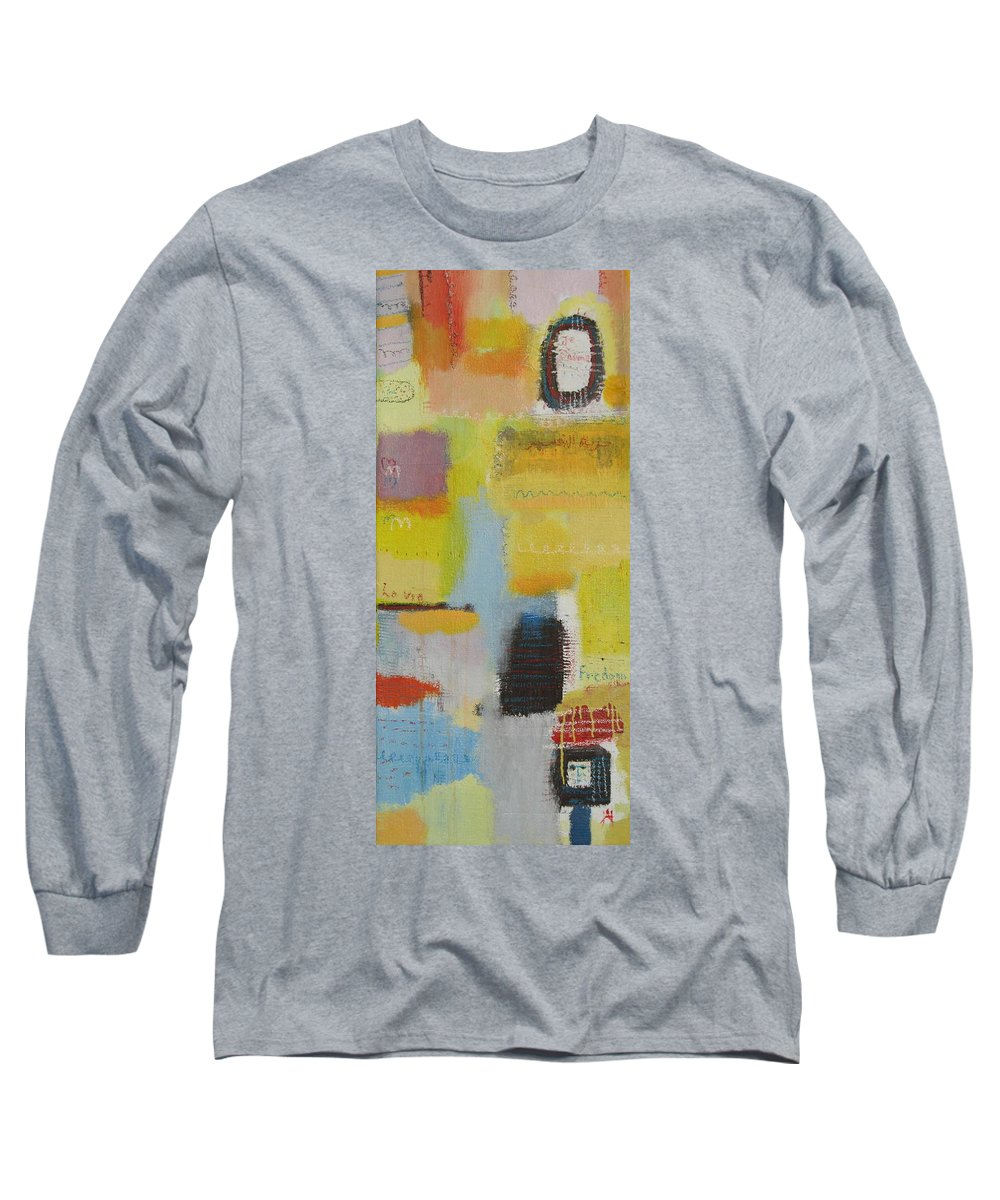 Abstract Long Sleeve T-Shirt featuring the painting Abstract Life 3 by Habib Ayat