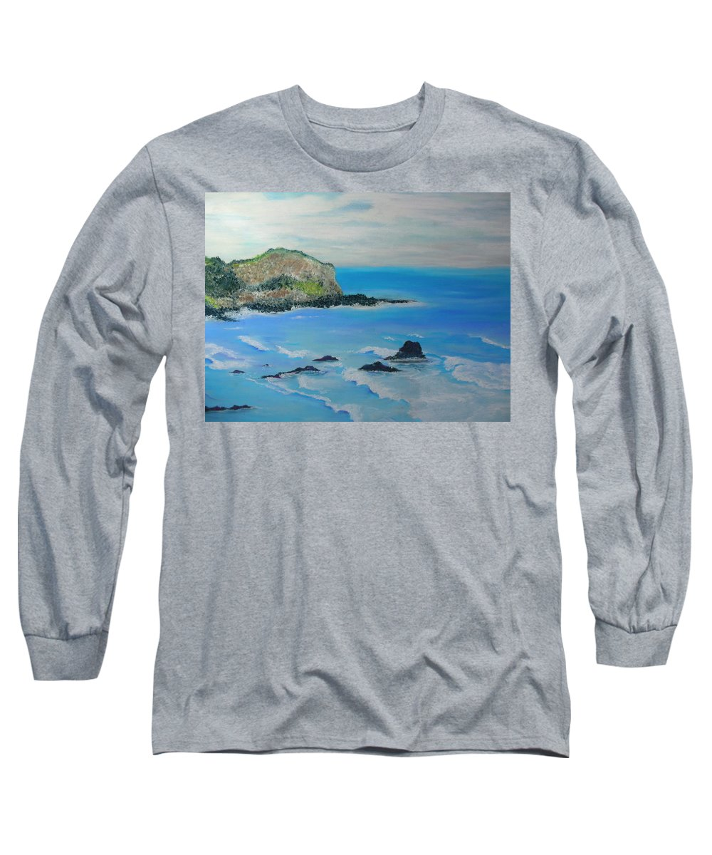 Hawaii Long Sleeve T-Shirt featuring the painting Aloha by Melinda Etzold