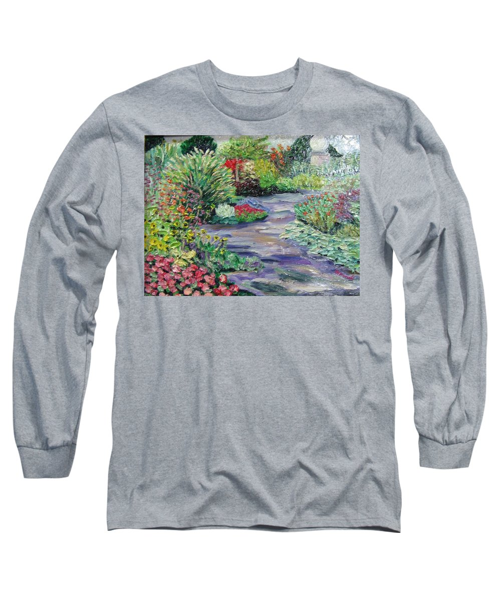 Park Long Sleeve T-Shirt featuring the painting Amelia Park Blossoms by Richard Nowak