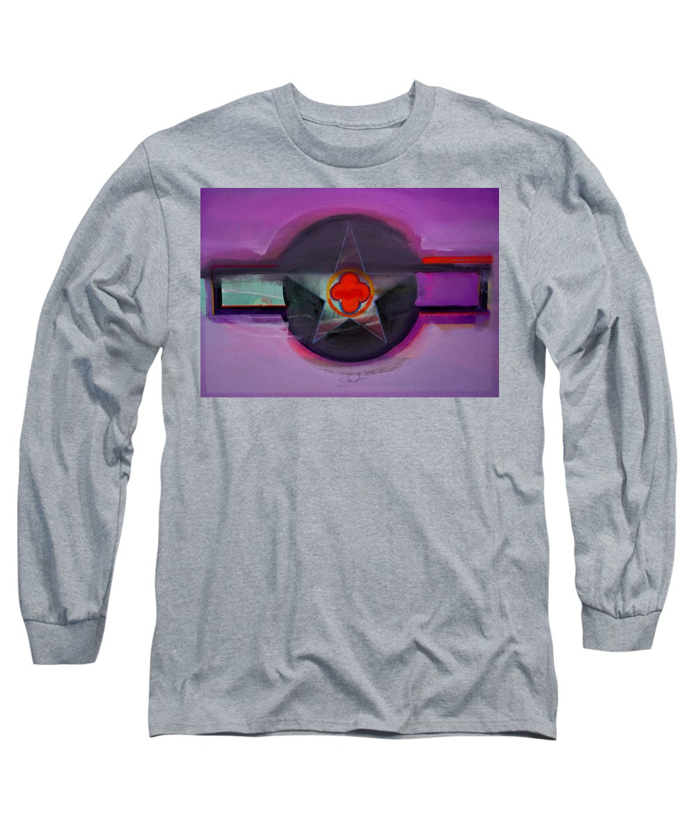 Star Long Sleeve T-Shirt featuring the painting American Lilac by Charles Stuart