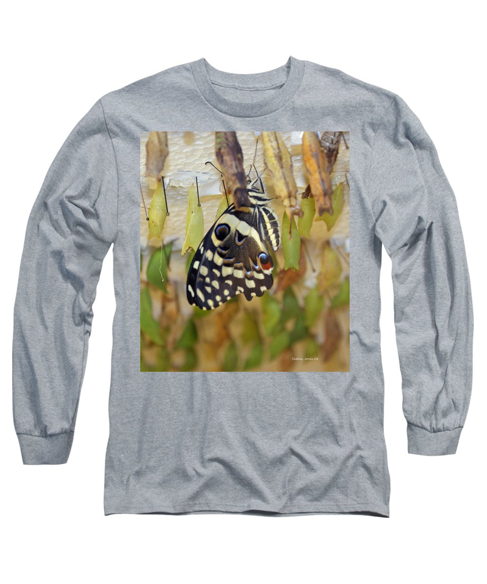 Butterfly Long Sleeve T-Shirt featuring the photograph And Life Begins by Shelley Jones
