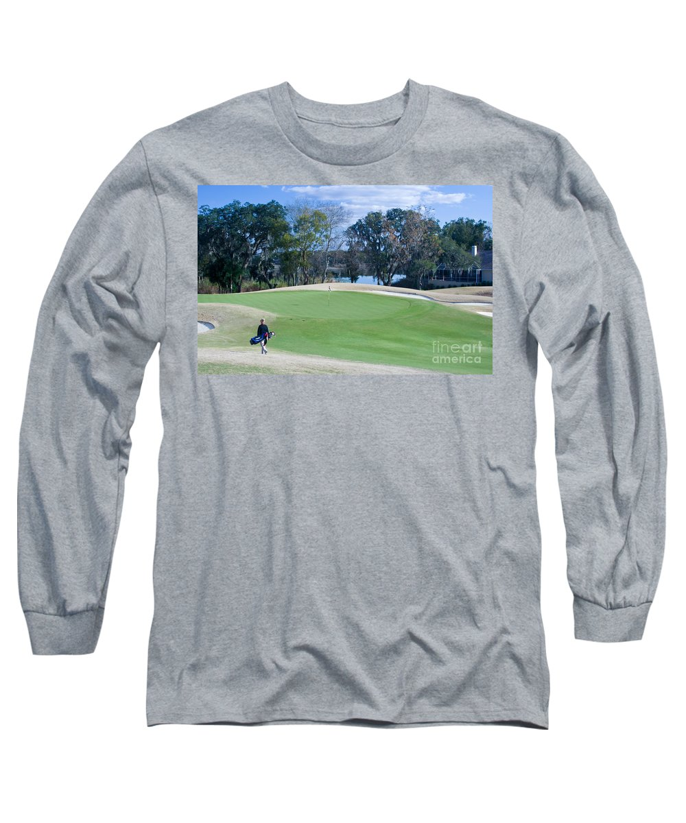 Golf Long Sleeve T-Shirt featuring the photograph Approaching The 18th Green by Thomas Marchessault