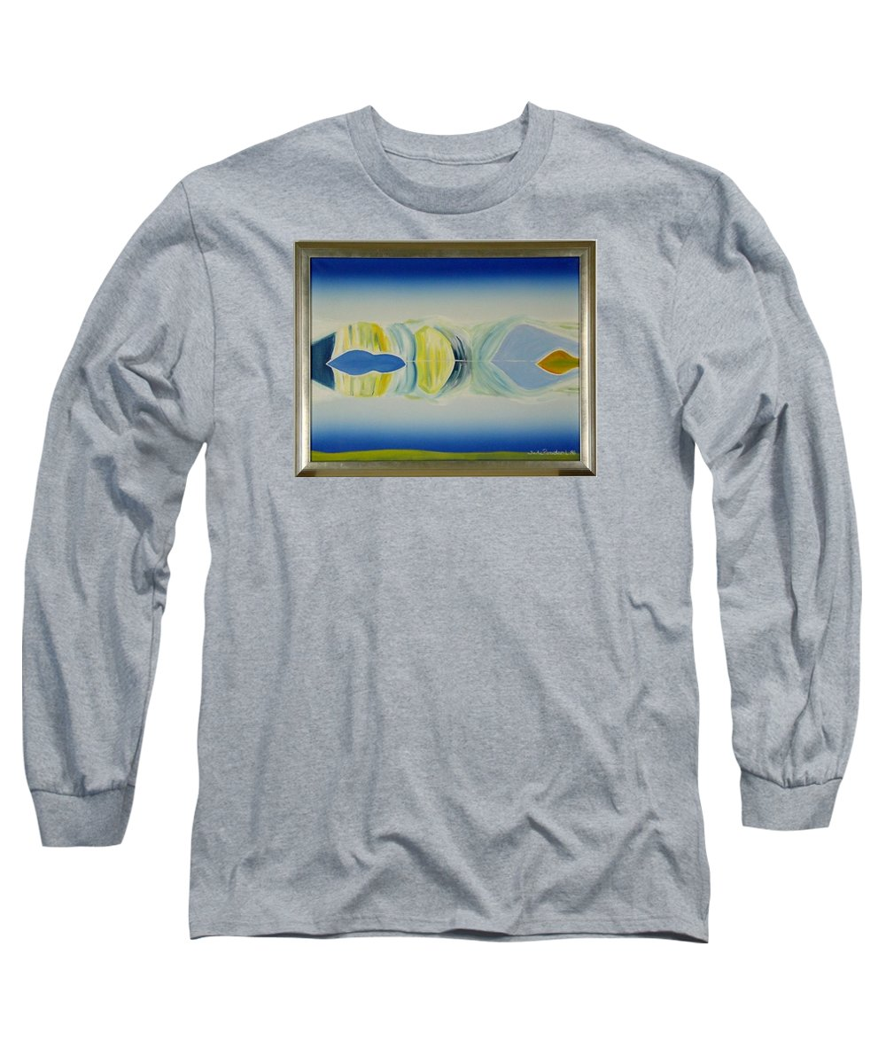 Landscape Long Sleeve T-Shirt featuring the painting Arctic Landscape by Jarle Rosseland