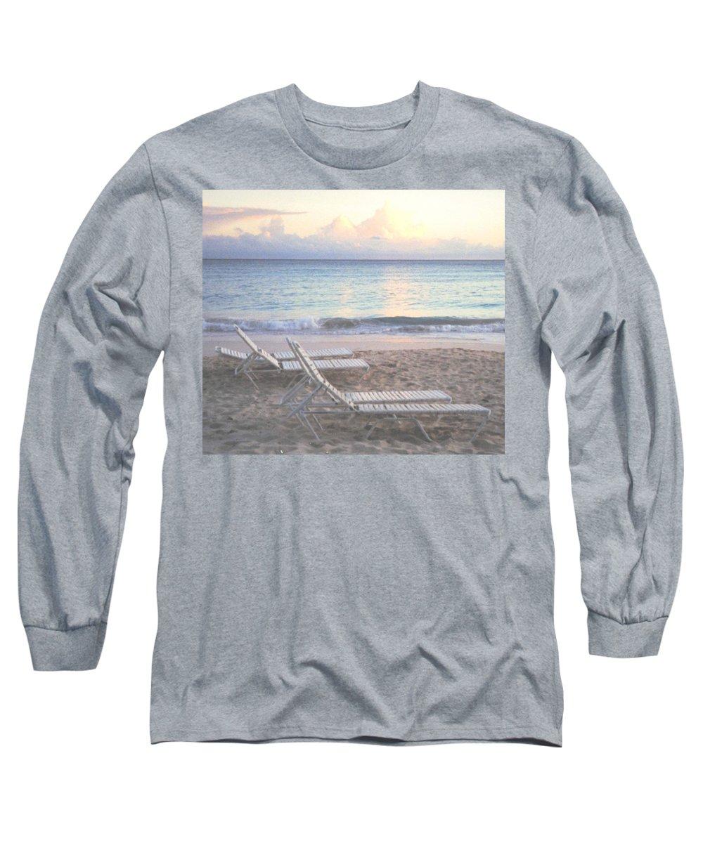 Aruba Long Sleeve T-Shirt featuring the photograph Aruba Beach by Ian MacDonald