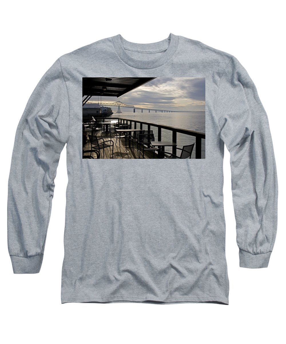 Scenic Long Sleeve T-Shirt featuring the photograph Astoria by Lee Santa