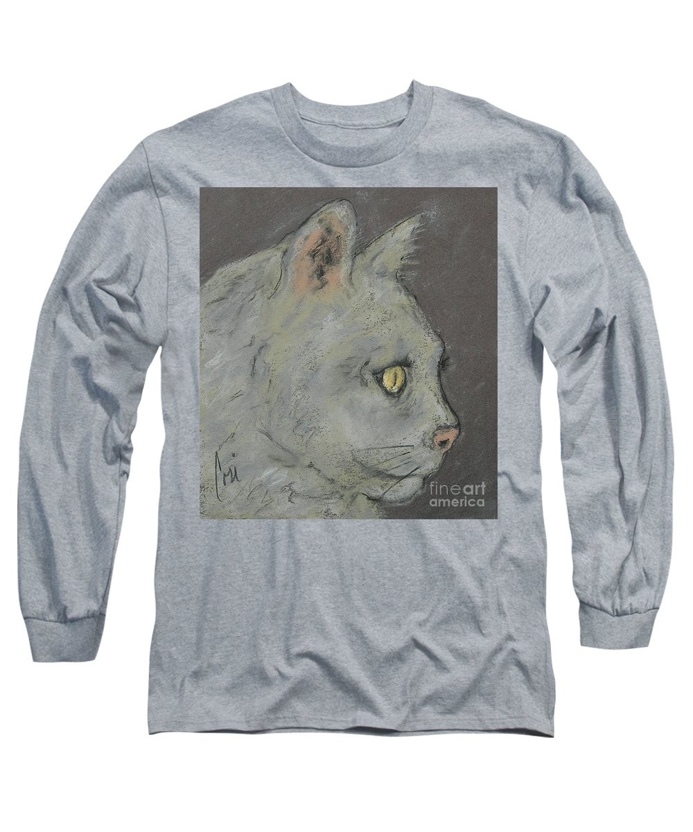 Pastels Long Sleeve T-Shirt featuring the drawing At Peace by Cori Solomon