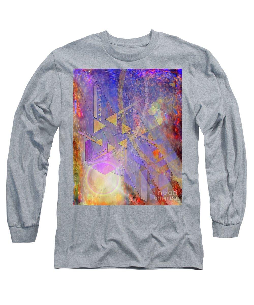 Aurora Aperture Long Sleeve T-Shirt featuring the digital art Aurora Aperture by John Beck