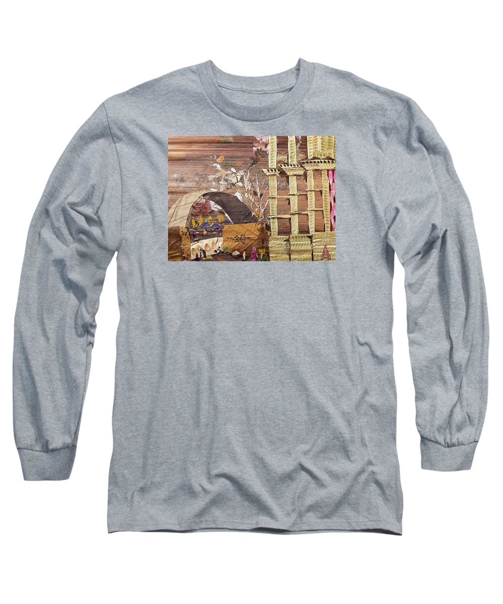 Back Door Entry For Relief To Disabled Long Sleeve T-Shirt featuring the mixed media Back Entry by Basant soni