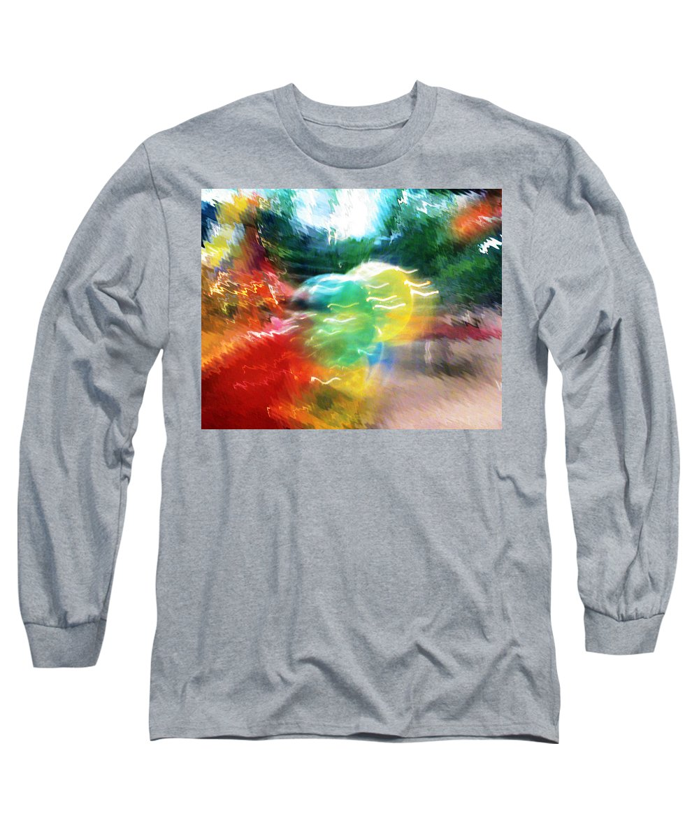 Baloons Long Sleeve T-Shirt featuring the painting Baloons N Lights by Anil Nene