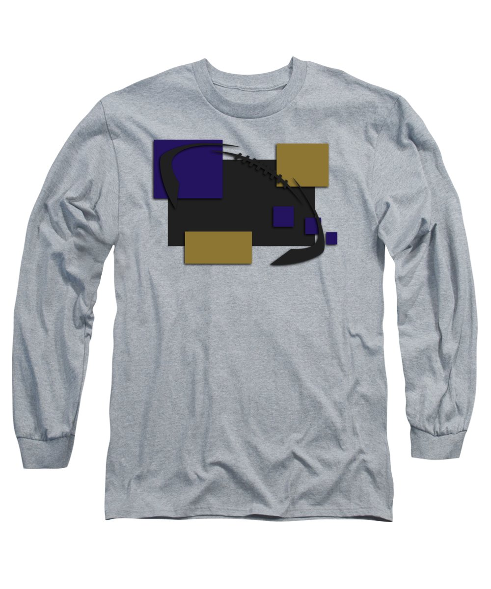 b55f13ac7f5 Ravens Long Sleeve T-Shirt featuring the photograph Baltimore Ravens  Abstract Shirt by Joe Hamilton