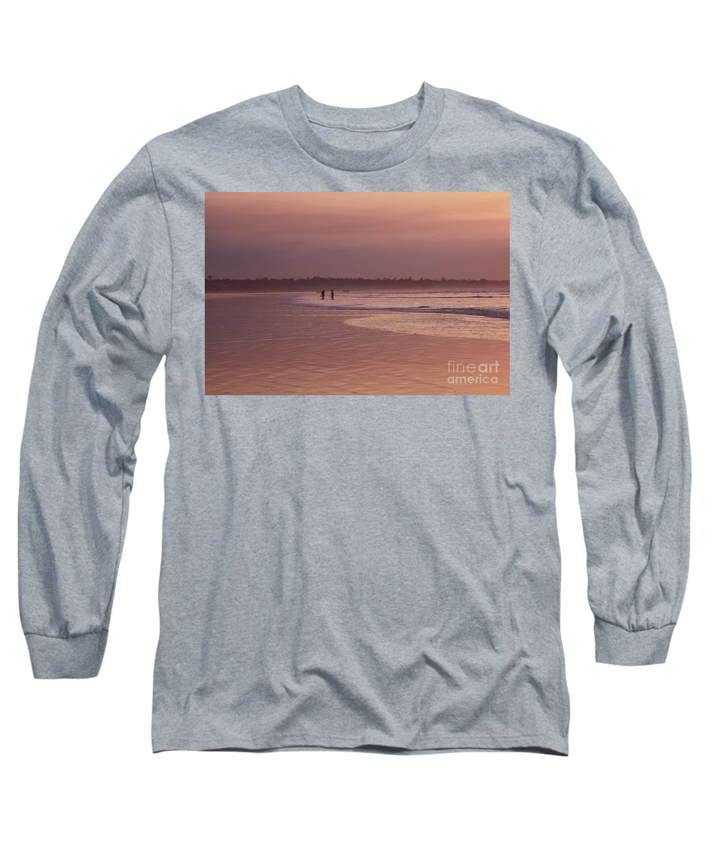 Ecuador Long Sleeve T-Shirt featuring the photograph Beachcombers by Kathy McClure