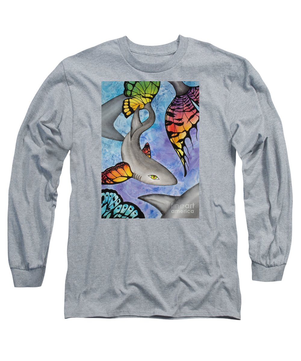 Surreal Long Sleeve T-Shirt featuring the painting Beauty In The Beasts by Lucy Arnold