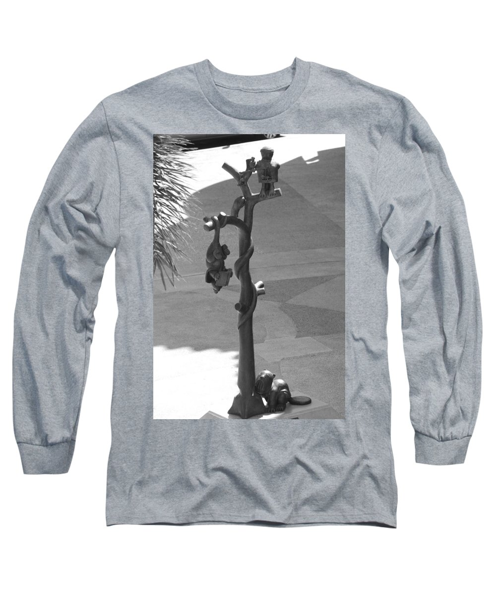 Black And White Long Sleeve T-Shirt featuring the photograph Beavers Bats And Squirrels by Rob Hans