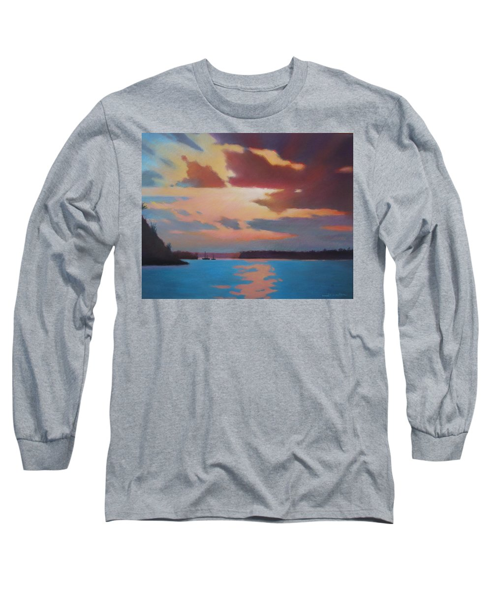 Bermuda Seascape Long Sleeve T-Shirt featuring the painting Bermuda Sunset by Dianne Panarelli Miller