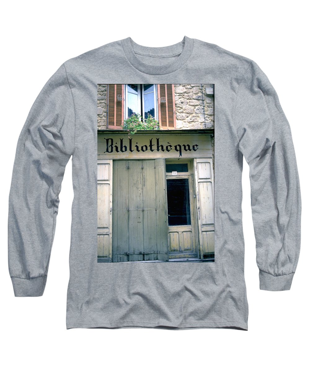Bibliotheque Long Sleeve T-Shirt featuring the photograph Bibliotheque by Flavia Westerwelle