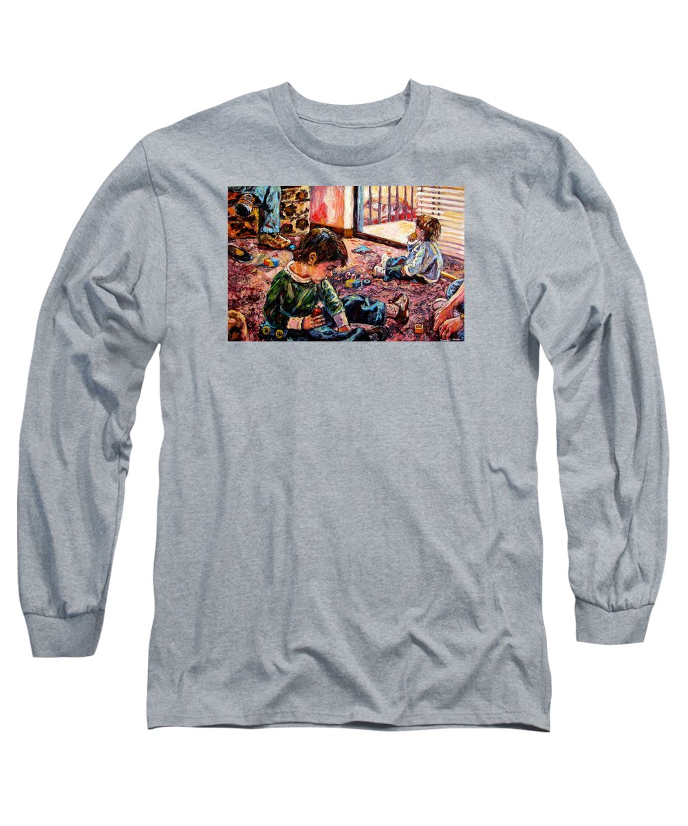 Figure Long Sleeve T-Shirt featuring the painting Birthday Party Or A Childs View by Kendall Kessler