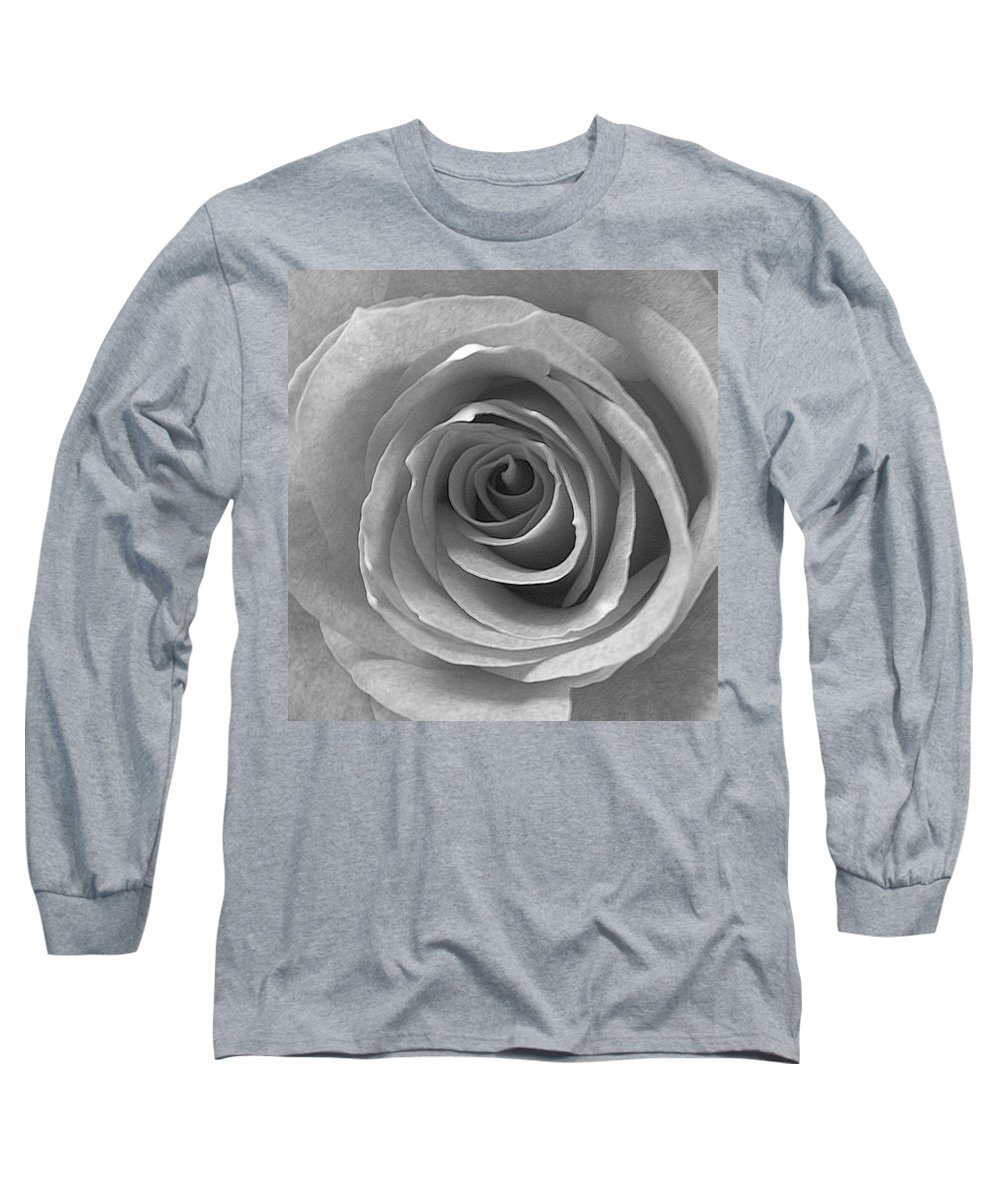 Rose Pedals Long Sleeve T-Shirt featuring the photograph Black And White by Luciana Seymour