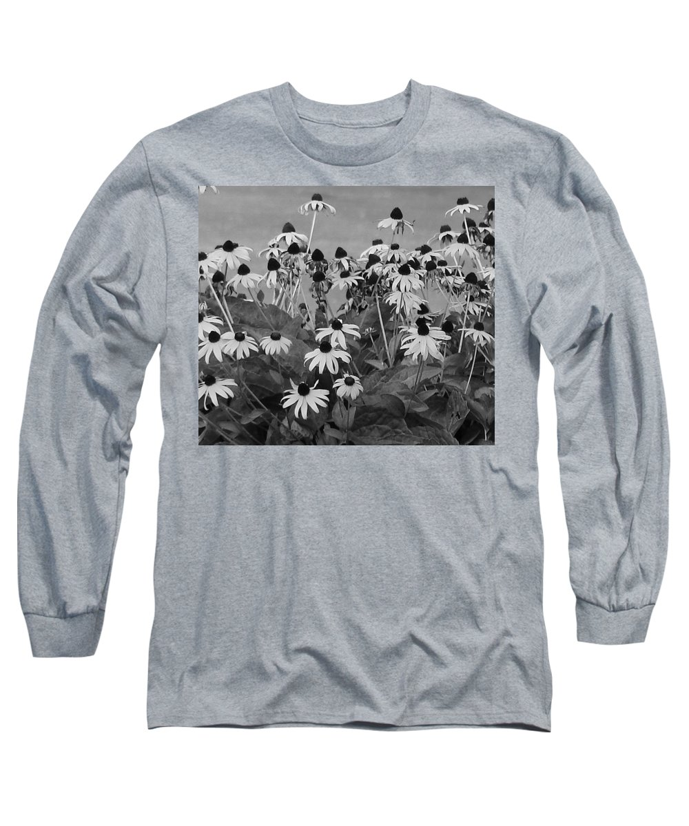 Long Sleeve T-Shirt featuring the photograph Black And White Susans by Luciana Seymour