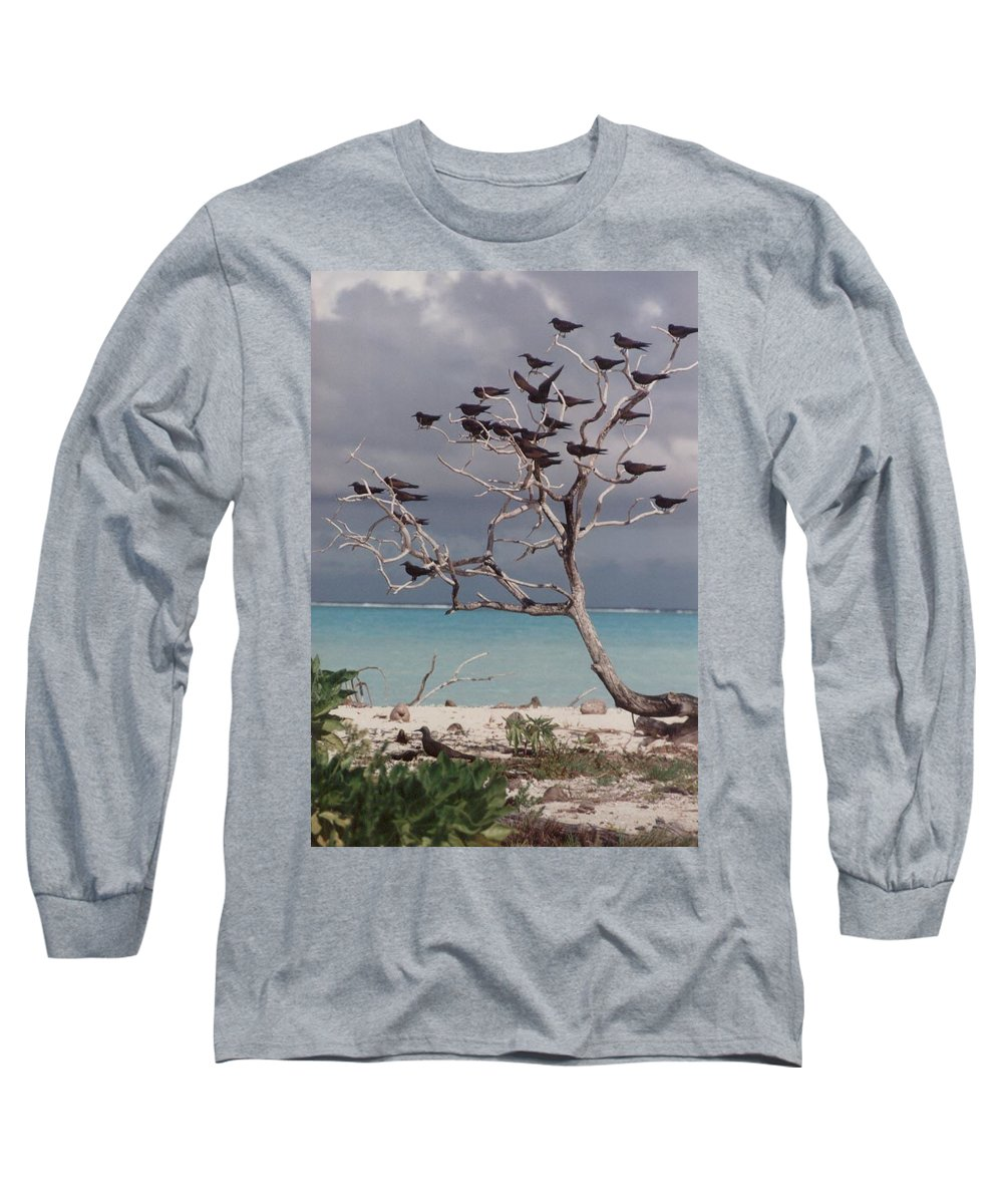 Charity Long Sleeve T-Shirt featuring the photograph Black Birds by Mary-Lee Sanders