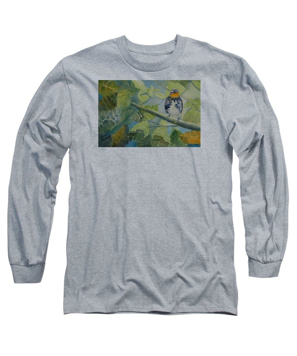 Bird Long Sleeve T-Shirt featuring the painting Blackburnian Warbler I by Ruth Kamenev