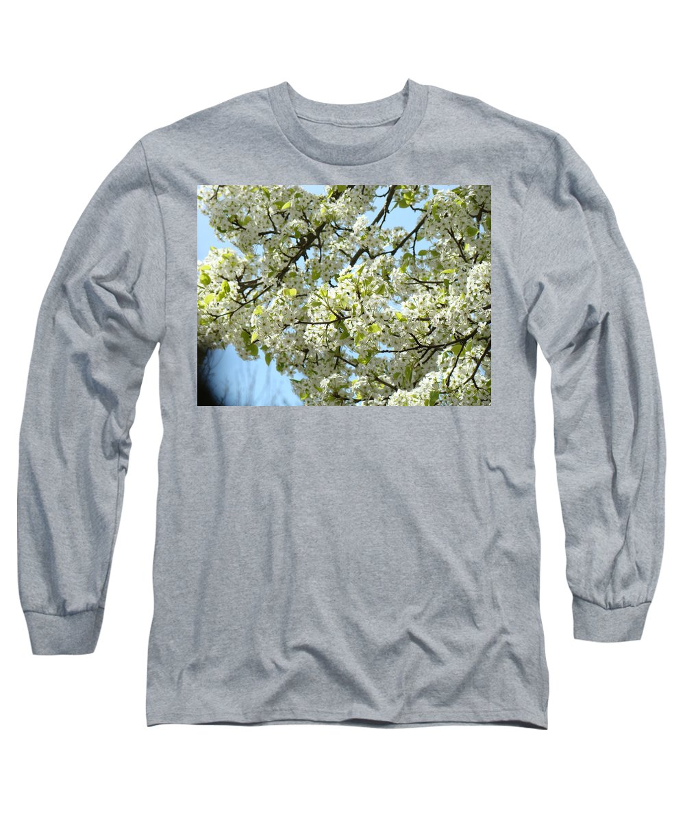 �blossoms Artwork� Long Sleeve T-Shirt featuring the photograph Blossoms Whtie Tree Blossoms 29 Nature Art Prints Spring Art by Baslee Troutman