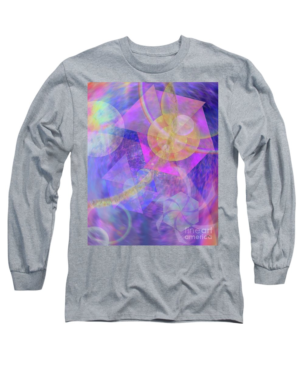 Blue Expectations Long Sleeve T-Shirt featuring the digital art Blue Expectations by John Beck