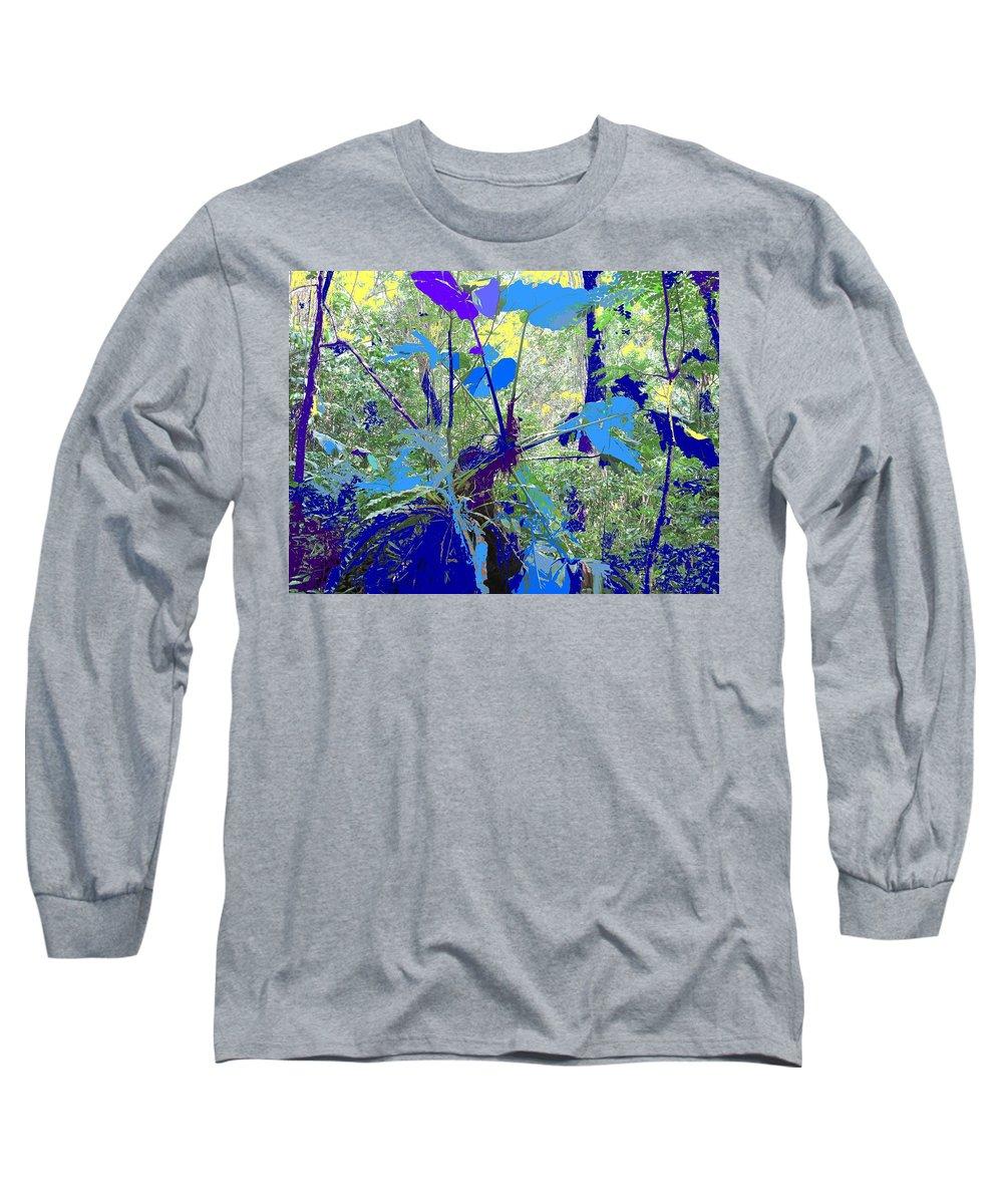 Long Sleeve T-Shirt featuring the photograph Blue Jungle by Ian MacDonald