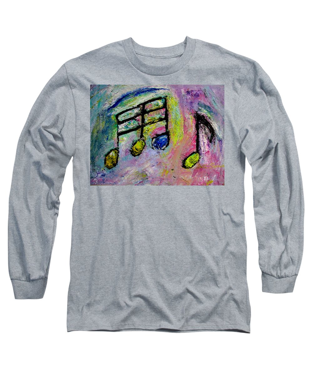 Impressionist Long Sleeve T-Shirt featuring the painting Blue Note by Anita Burgermeister