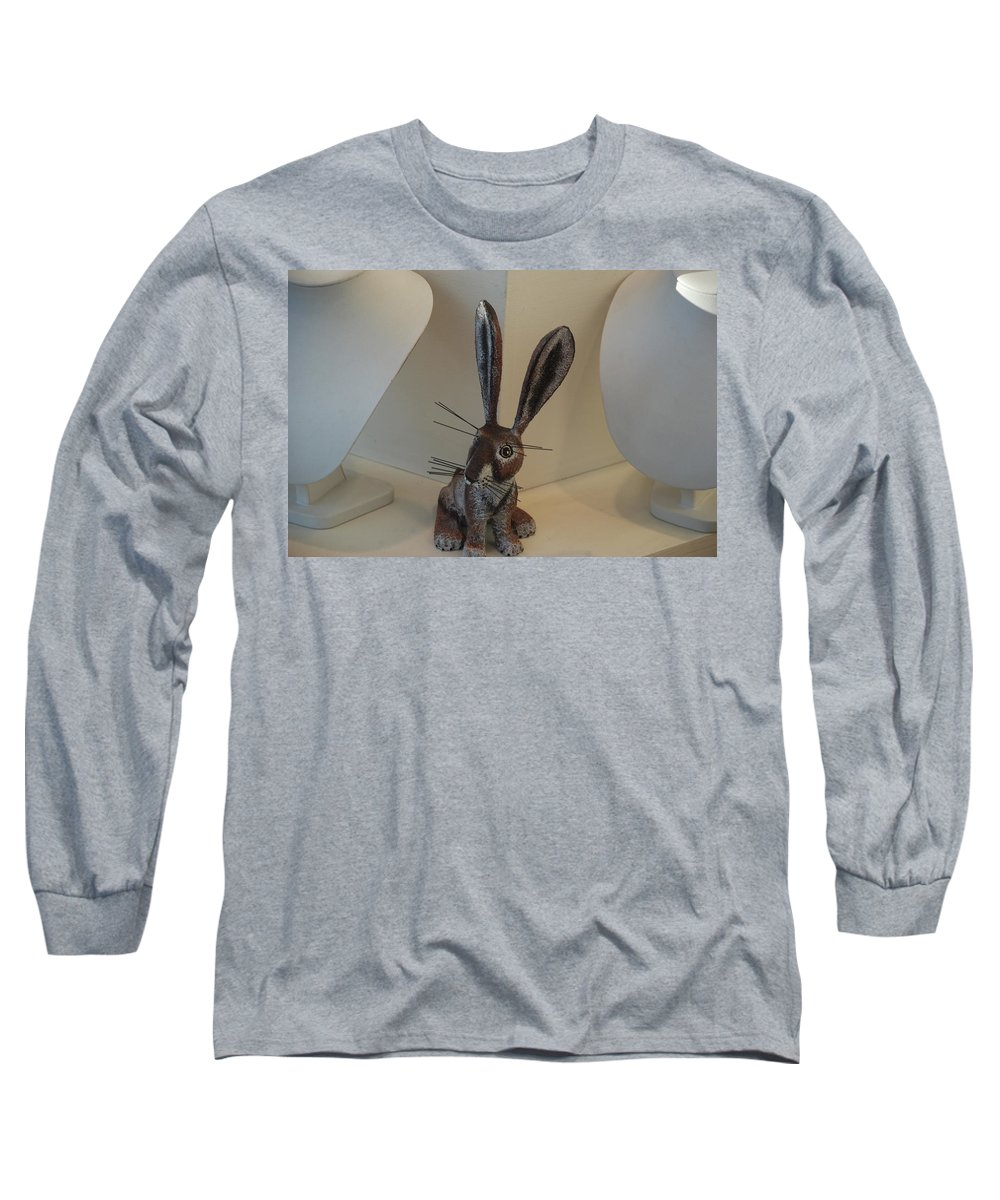 Rabbit Long Sleeve T-Shirt featuring the photograph Boink Rabbit by Rob Hans