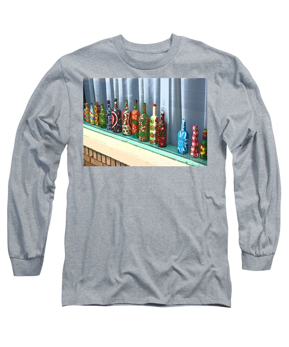 Bottles Long Sleeve T-Shirt featuring the photograph Bottled Up by Debbi Granruth