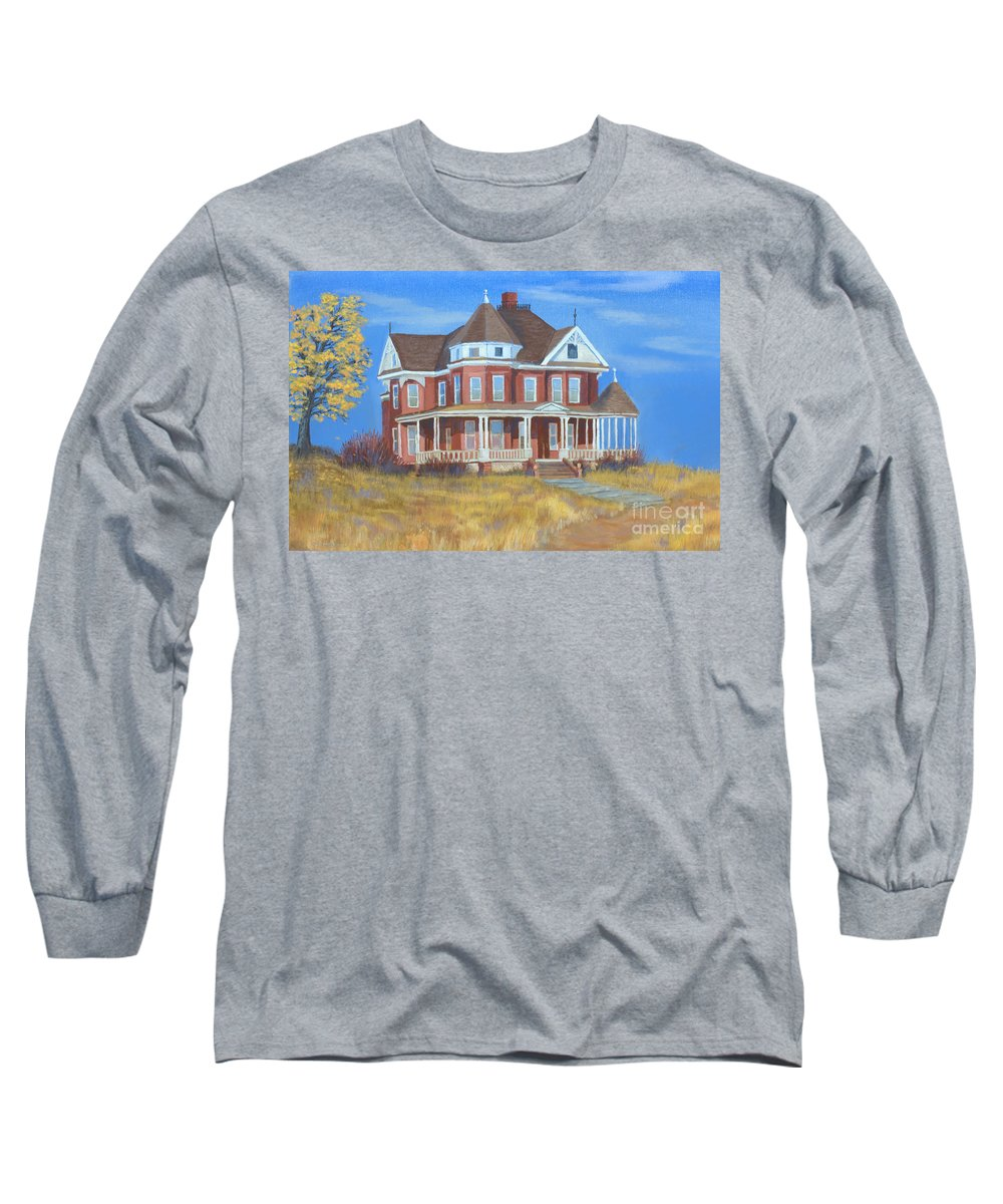 Boulder Long Sleeve T-Shirt featuring the painting Boulder Victorian by Jerry McElroy