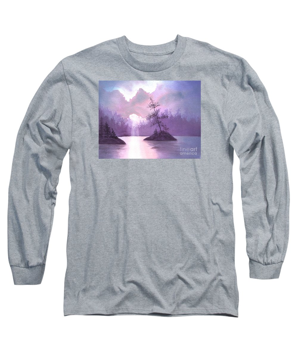Landscape Long Sleeve T-Shirt featuring the painting Breakthrough by Lynn Quinn