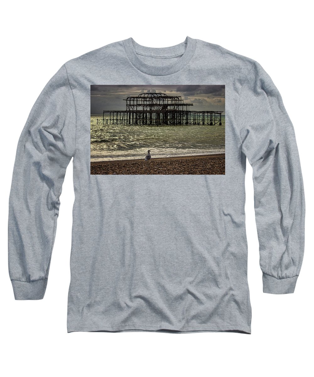 Brighton Long Sleeve T-Shirt featuring the photograph Brighton Pier by Martin Newman
