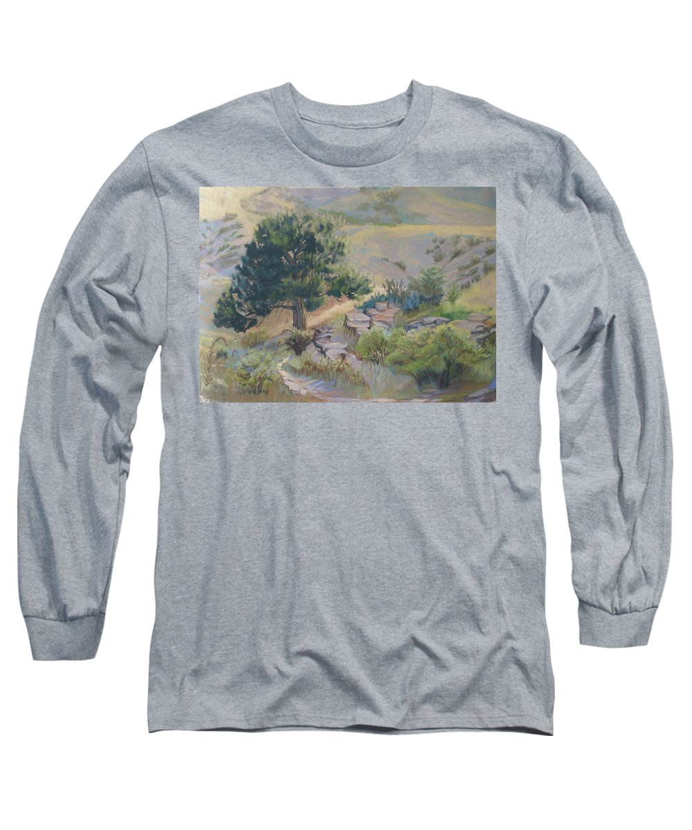 Pine Tree Long Sleeve T-Shirt featuring the painting Buckhorn Canyon by Heather Coen